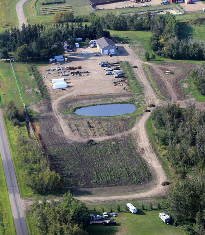 Aerial View of Three Seasons Landscaping Ltd.